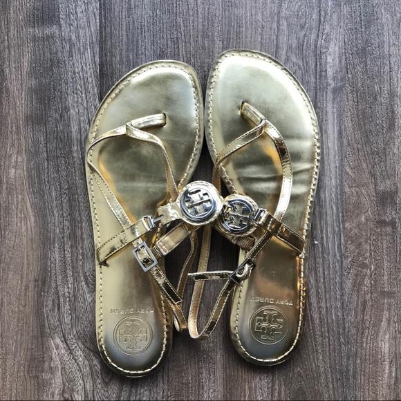 Tory Burch Shoes - Tory Burch Gold Sandal